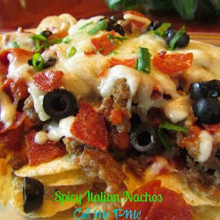 Spicy Italian Nachos.