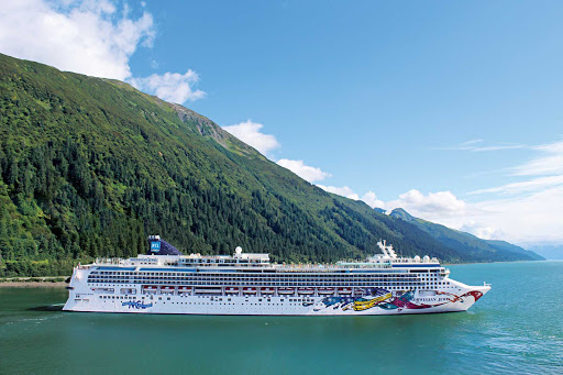 Norwegian-Jewel-Aerial-Juneau - Norwegian Jewel during a port visit to Juneau, Alaska.