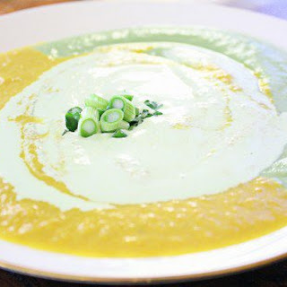 Roasted Yellow Pepper Soup.