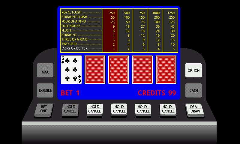 Poker Video Machine- screenshot