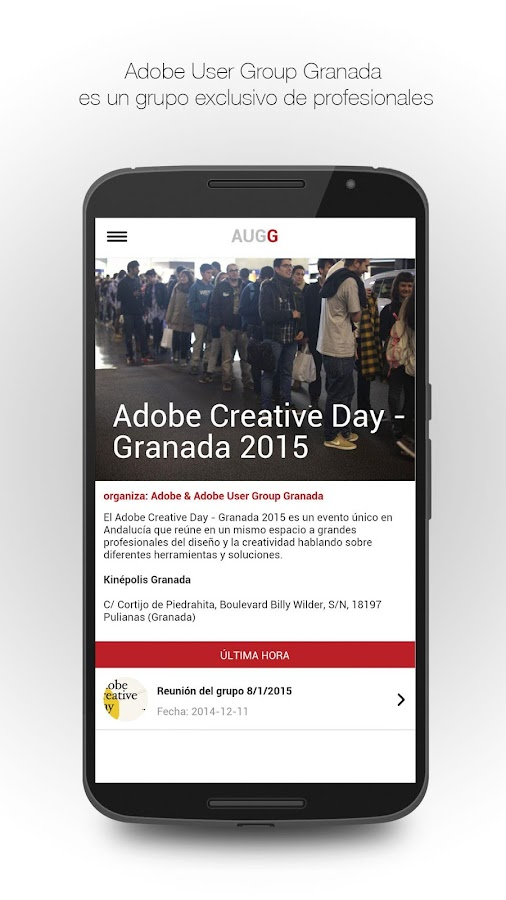 Adobe User Group Granada- screenshot