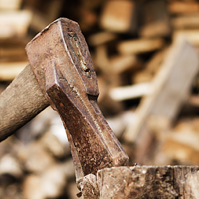 by Morgentau ;) - Artistic Objects Industrial Objects ( wood, fuel, wood ax, artistic objects, ax )
