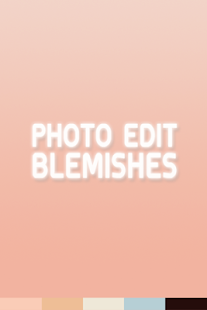 Photo Edit Blemishes