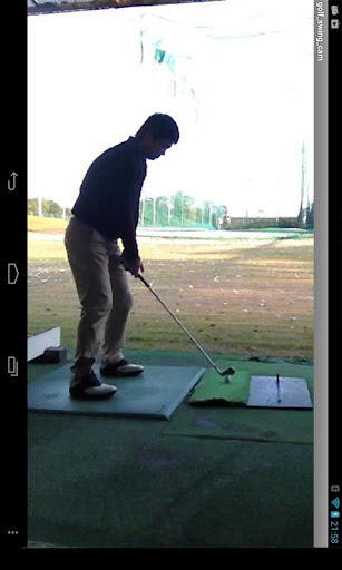 Golf swing camera video