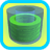 3D Tube Battery Widget