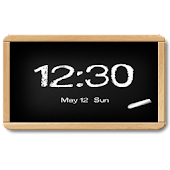 Flyer Clock Skin Blackboard