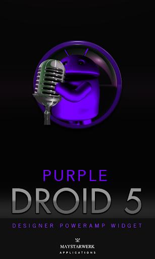 Poweramp Widget Purple Droid 5