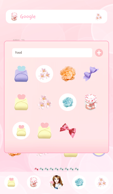 LovelyGirl dodol theme - screenshot