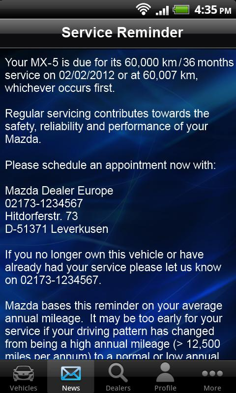 MyMazda - screenshot