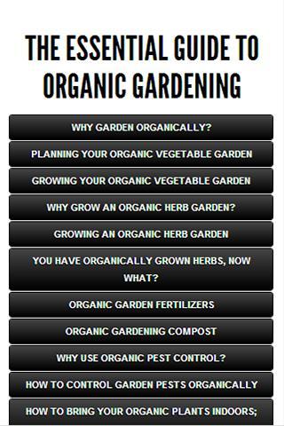 【免費書籍App】Guide to Organic Gardening-APP點子