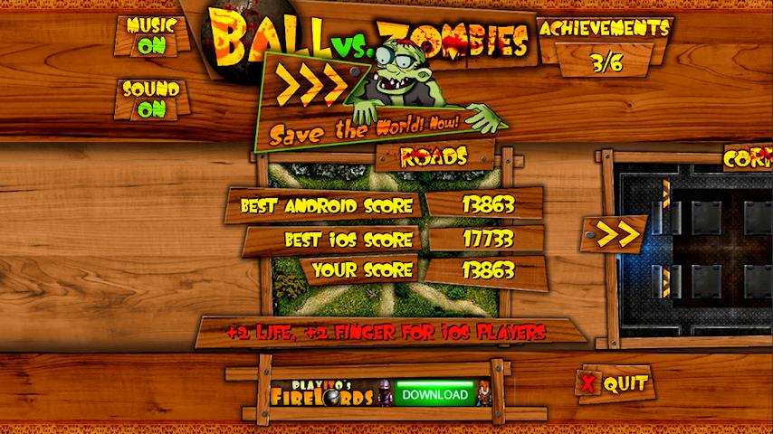 Ball vs. Zombies - screenshot