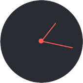 Flat analog clock for UCCW