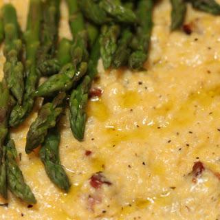 Pancetta Polenta with Asparagus Recipe
