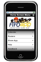 Screenshot of FIFO App Work Roster