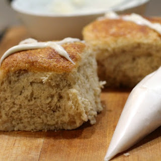 Hot Cross Buns with Orange and White Chocolate