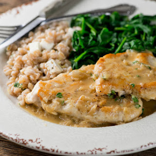 Chicken in Buttered White Wine Pan Sauce