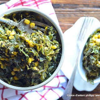 Southern Bacon Dripping Collards & Corn.