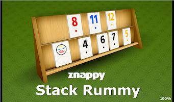 Screenshot of Stack Rummy Znappy