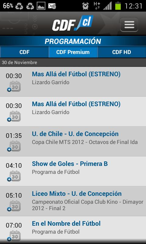 CDF Chile - screenshot