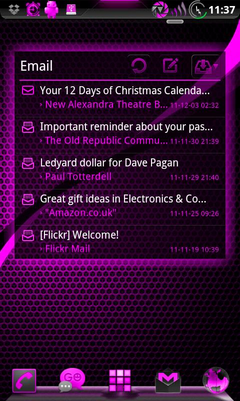 GOWidget AdeaPink ICS - Free - screenshot