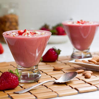 Chilled Strawberry Almond Butter Soup.