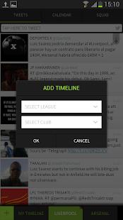 FootyTwits Twitter Live Scores - screenshot thumbnail