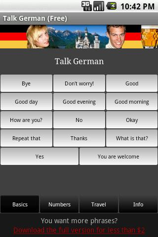 Talk German (Free) - screenshot
