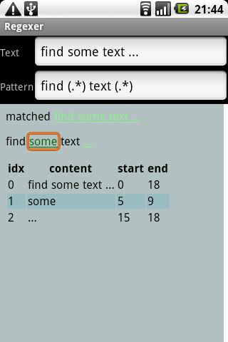 Regexer - screenshot