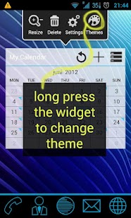 GoWidget ICS Holo Light theme- screenshot thumbnail