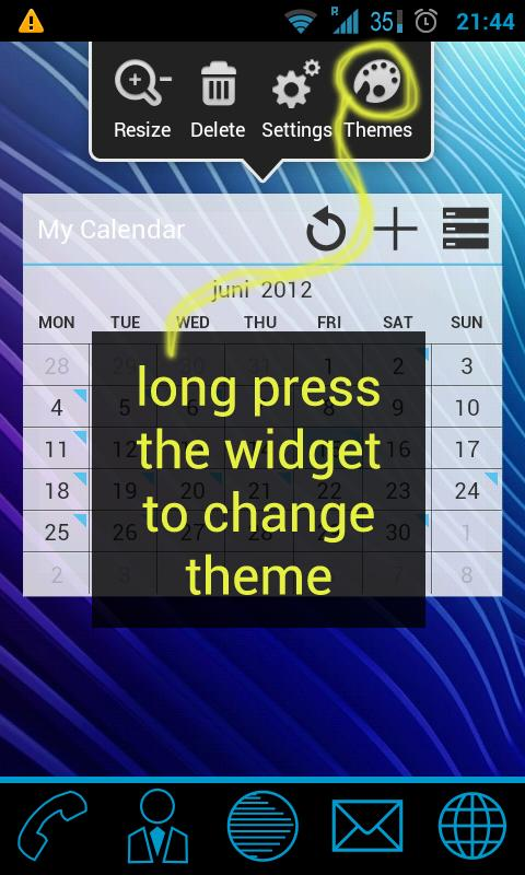 GoWidget ICS Holo Light theme- screenshot