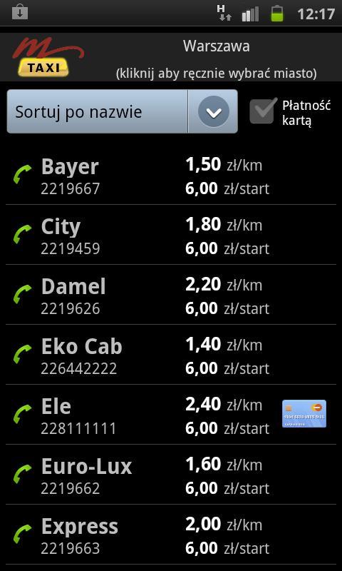 mTaxi - screenshot