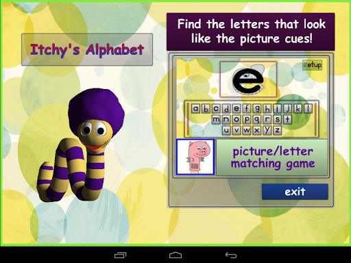 Itchy's Alphabet Matching Game