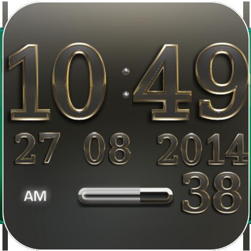 Digi Clock Widget Teutonic