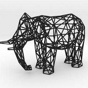 象のワイヤーフレーム