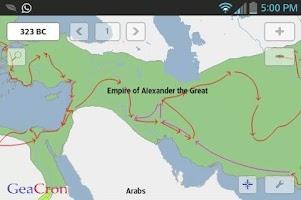 Screenshot of GeaCron History Maps