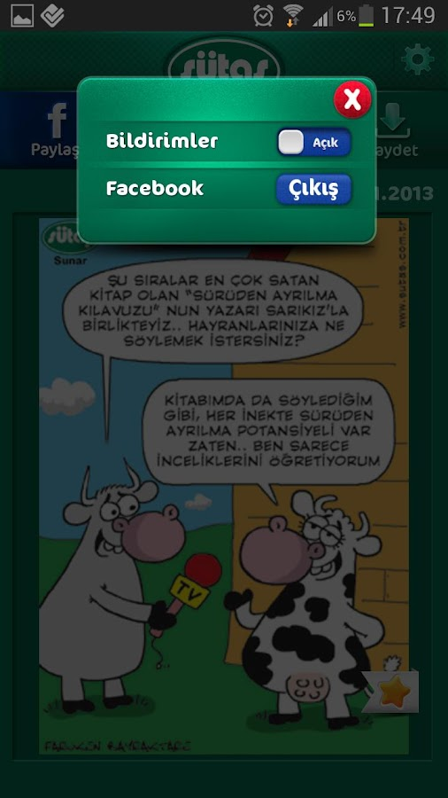 Sütaş Karikatürleri - screenshot