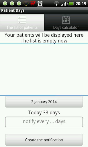 Medical days calculator