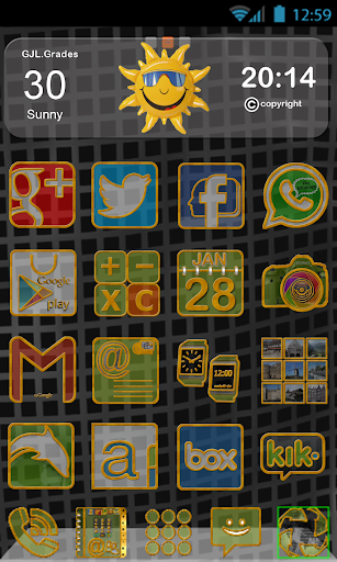 GLE Theme Gold Blurred Icons
