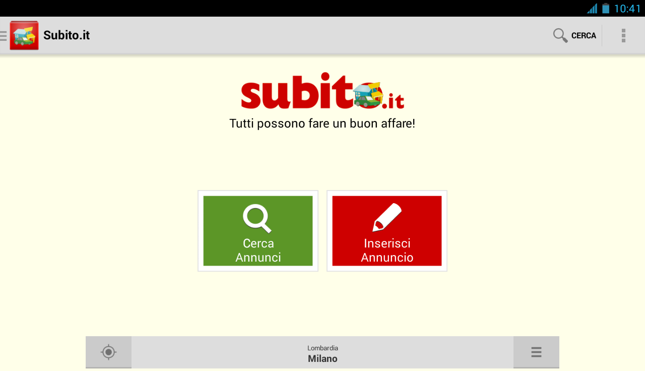 Android apps on google play for Subito casa milano