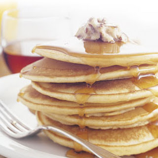 Cornmeal Pancakes with Honey-Pecan Butter