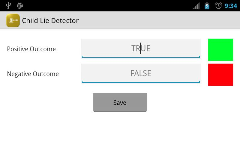 Child Lie Detector- screenshot