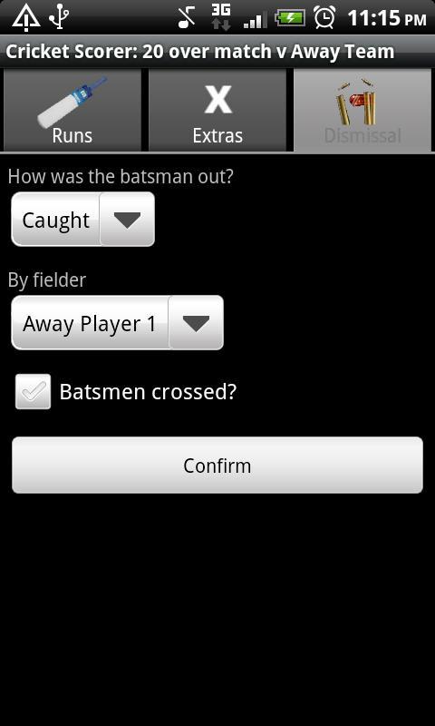 Cricket Scorer for Android- screenshot