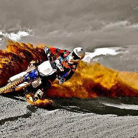 Color Splash Berm Blasting by Zachary Zygowicz - Sports & Fitness Motorsports