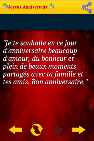 bon anniversaire words