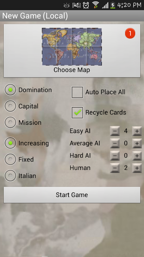 Domination (risk & strategy)- screenshot