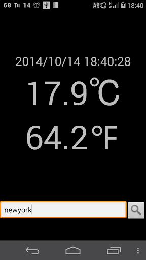 入力住所地測位の外気温