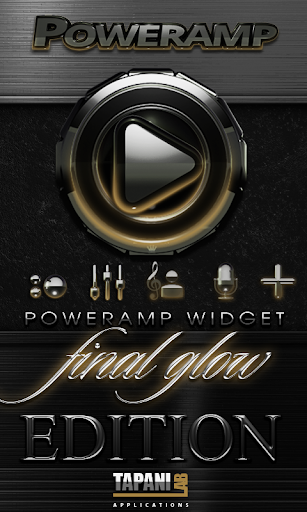Poweramp skin widget Gold Glow