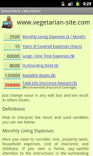 Insurance Life Calculator