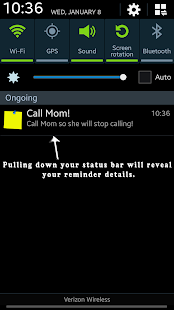 Free Status Bar Sticky Note APK for Android