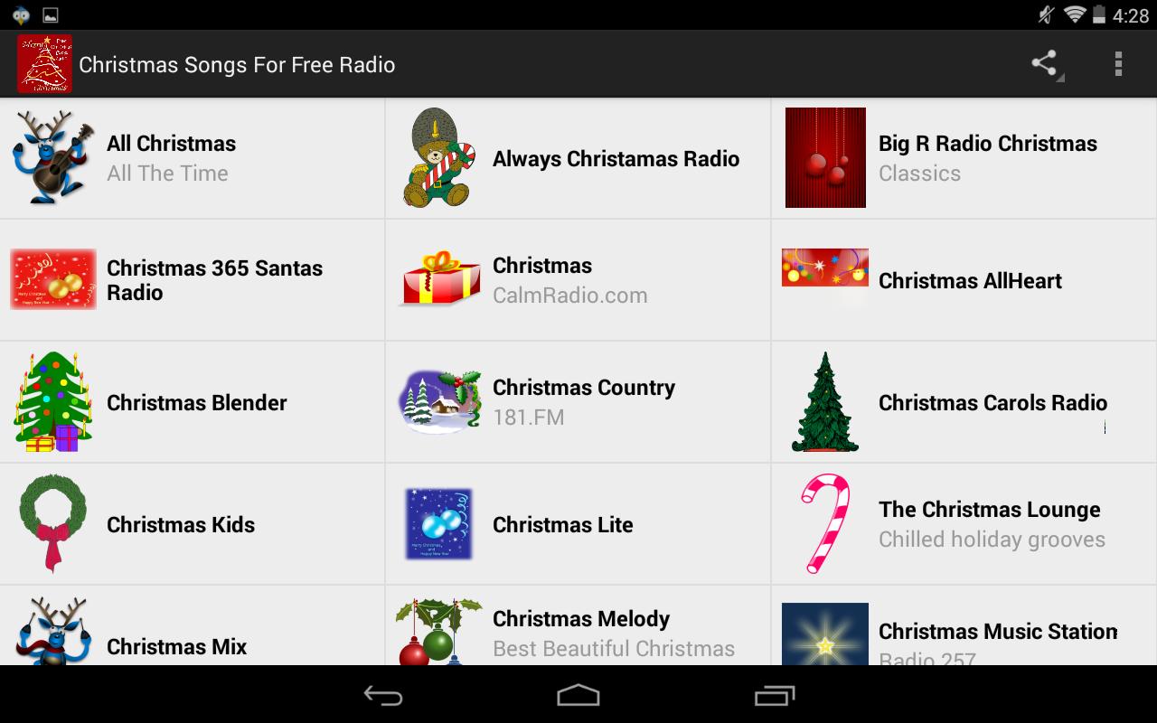 Names Of Some Famous Christmas Carols - Christmas songs for free radio screenshot